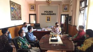Bawaslu Banjar Lakukan Koordinasi dengan Kapolres Banjarbaru