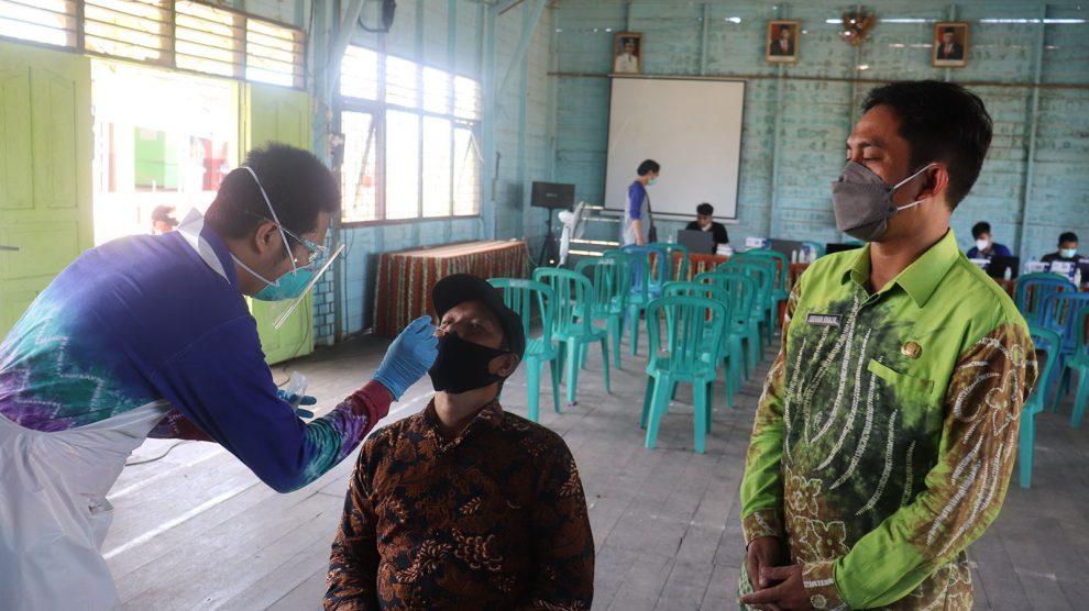 Monitoring Swab Antigen di Kecamatan Aluh-aluh